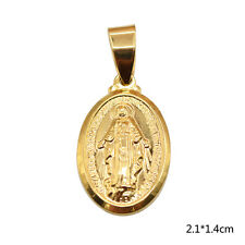 1 Pc Blessed Virgin Mary Pendant Mini Gold Tone Charm For Necklace Bracelet New