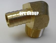 5/8 HOSE BARB ELBOW X 3/4 MALE NPT Brass Pipe Fitting Thread Gas Fuel Water Air