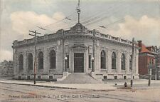 OH843 Federal Building, Post Office, East Liverpool, Ohio Hand Colored Postcard