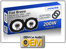 Fiat Bravo Front Door speakers Alpine car speaker kit with Adapter Pods 200W