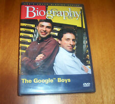 THE GOOGLE BOYS A&E Biography Larry Page Sergey Brin Internet Search DVD NEW
