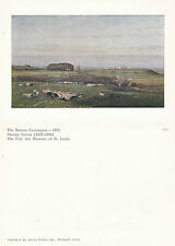 1980's ROMAN CAMPAGNA BY GEORGE INNESS UNUSED COLOUR POSTCARD FROM A PAINTING