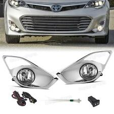 Clear Lens OE Style Front Bumper Fog Lights Kit for Toyota Avalon 2013-2015 2014