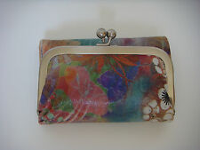 Hobo International Robin Tri Fold Leather Wallet Fantasy Floral New