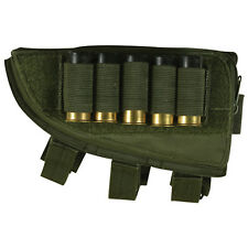 Fox Tactical Left Handed Butt Stock Shotgun Cheek Rest Shell Pouch OD Olive Drab
