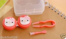 New Hello Kitty 3D Head Shape Mini Contact Lens Case Holder X 1pc HC28