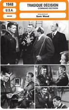 FICHE CINEMA : TRAGIQUE DECISION - Gable,Pidgeon,Wood 1948 Command Decision