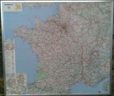 CARTE DE FRANCE MICHELIN MAGNETIQUE AIMENTEE ENCADREE GRAND FORMAT TRES BON ETAT