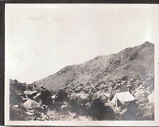 2 VINTAGE 1906 SAN FRANCISCO CALIFORNIA GOLD MINERS TENT CAMP MAN WATER PHOTOS