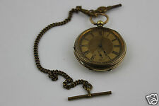 Vintage  Gold Plated LB CANADA Key Wind Pocket Fob Watch Working Order