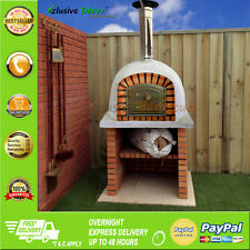 OUTDOOR WOOD FIRED PIZZA OVEN 100 CM x 100 CM GARDEN / PATIO BBQ