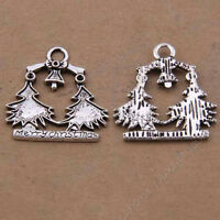 40pc Charms Christmas tree Pendant Jewellery Making Crafts Tibetan Silver /S846