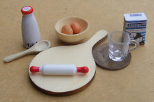 1:12 Bread Cake Baking Set Dolls House Miniature Kitchen Cooking Accessory MU