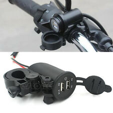 Dual USB Motorcycle Mobile Waterproof Power Supply Port Socket Charger For Phone