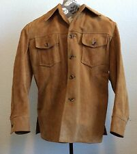 Vintage LL Bean Suede Size 44 Pigskin by Wolverine Satin Lined Jacket Coat