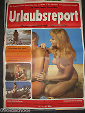 Urlaubsreport - KINOPLAKAT A1 - Sybil Danning SEX swedisch Love games HOt erotic