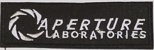 "PORTAL Game- Aperture Laboratories Logo 4.5"" BLACK Patch-FREE S&H (PORTPA-01)"