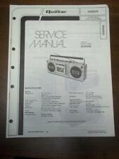 Quasar Service Manual for Model GX3604XQ Radio Stereo Cassette Player~Boombox