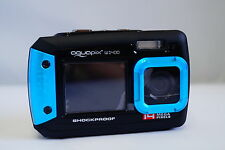 14MP aquapix underwater digital camera, W1400, Dual Screen, 3m Waterproof, Blue