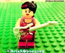 LEGO Minifig Lt Aqua ELECTRIC GUITAR Stars Magenta NEW! Music Friends City 41105
