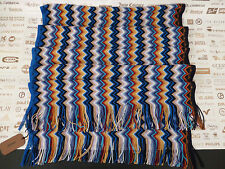 MISSONI Ladies Wrap Italian Made Signature Zigzag Multi Col Blended Scarf RP£150
