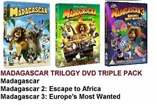 MADAGASCAR TRILOGY DVD COMPLETE COLLECTION PART 1 2 3 TRIPLE MOVIE FILM SEALED