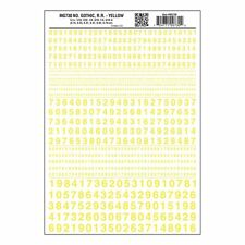 Numbers Dry Transfer Sheet, Gothic RR Yellow Dt - Woodland Scenics WMG730