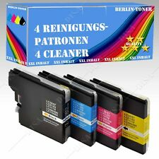 4x Reinigungspatronen kompatibel mit Brother LC980 LC1100 MFC 795cw / MFC 990CW