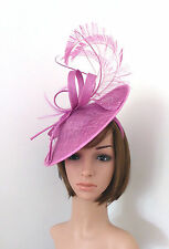 Crocus Pink Fascinator was £64.99 Feather, Pearl + Quill Disc Hat + Silver Cream