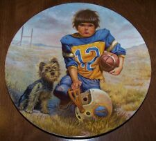 The Quarterback - by Gregory Perillo Collector Plate 1981 w/ COA