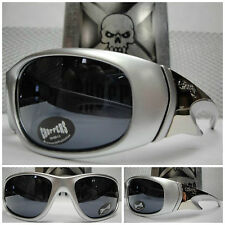 NEW MENS SILVER MOTORCYCLE BIKER STYLE RIDING DAY CHOPPERS SUN GLASSES SHADES