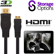 Storage Options Scroll 7, Excel Android Tablet HDMI Mini to HDMI TV 2.5m Cable