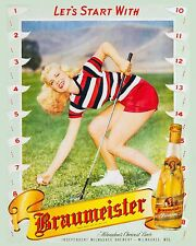 Milwaukee Braumeister Beer Golf Advertising Poster - 8x10 Color Photo