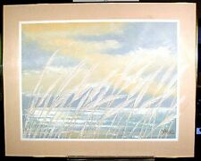 Large Contemporary Lee reynold Burr American Act CaliforniaOcean & Sea Oats