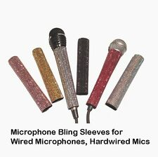"Microphone Sleeves, Custom Bling Microphone XLR 3 Pin, TRS 1/4"" by Blingcons"