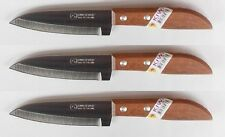 "3 x KIWI 4"" Sharp Pairing Knife, with wood Handle # 503 100% Brand New"