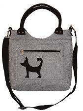 Der kleine Freund - Handmade Handtasche Umhängetasche Wollfilz Filz Hund Welpe