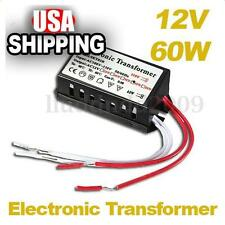 60W 110V to 12V Halogen Light Power Supply Converter Electronic Transformer US