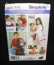 Simplicity MOM/DAD DIAPER BAGS, NURSING PILLOW, CHANGING Sewing Pattern 2924 FF