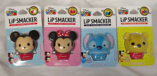New Set of 4 Disney Tsum Tsum Lip Smacker Minnie Mickey Mouse Pooh Stitch Balm