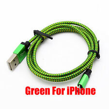 0.2-3M Aluminum Braided Hemp Rope Data &Sync Charger Cable For iPhone 5S 6S Plus