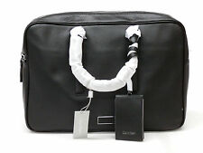 Calvin Klein Mason Black Pebbled Leather Laptop Bag NWT