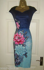 BEAUTIFUL SUMMER PENCIL WIGGLE EVENING PARTY DRESS SIZE  16 18 NEW