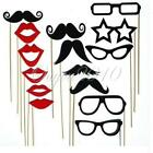 15x Photobooth Props on Stick. Mustache, lips. Wedding Party Photo Booth Kit