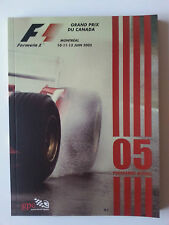 FORMULA 1 GRAND PRIX CANADA 2005 OFFICIAL PROGRAM