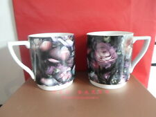 TED BAKER PORTMEIRION SHADOW FLORAL STACKING PAIR MUGS BRAND NEW BOXED DESIGNER