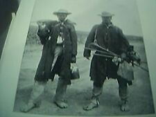 book plate boer war original 1900 - south african natives head for the gold fiel