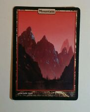 1x Mountain ~ Unhinged ~ FULL ART LAND ~ Slight Play ~ MtG Magic the Gathering