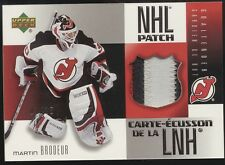 2005-06 McDonald's Upper Deck Martin Brodeur 3 Color GU NHL Patch 1/25