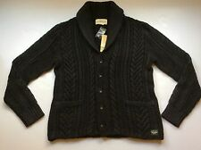 NEW Ralph Lauren Denim&Supply Washed Black Cabled Shawl Cardigan-MENS- S
